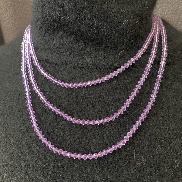 Mauve 3 Strand Necklace