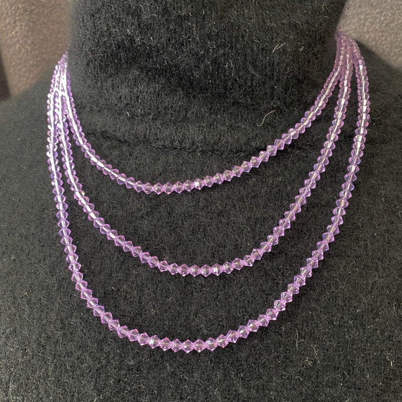 Mauve 3 Strand Necklace